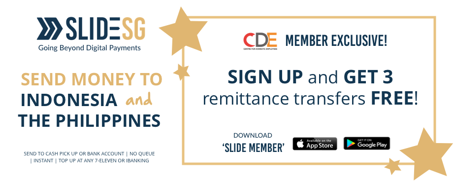 poster of CDE Member Exclusive Offer of 3X free remittance by SLIDE