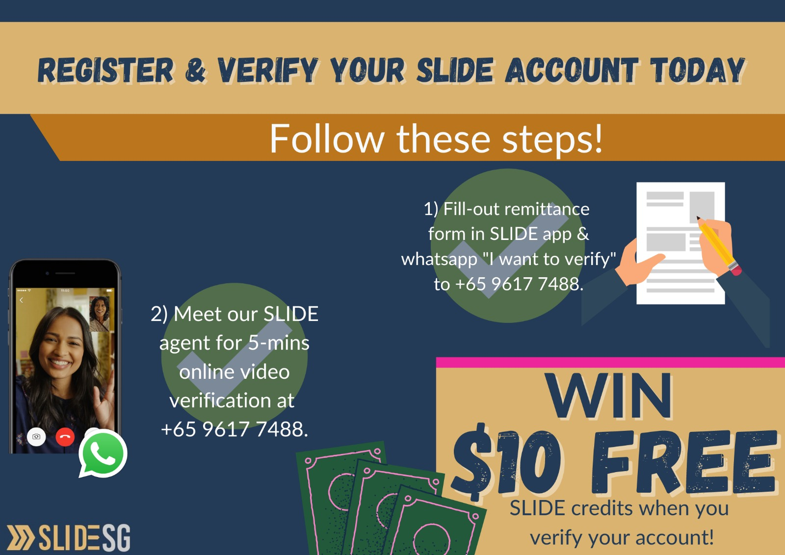 poster of SLIDE verification promo to get $10